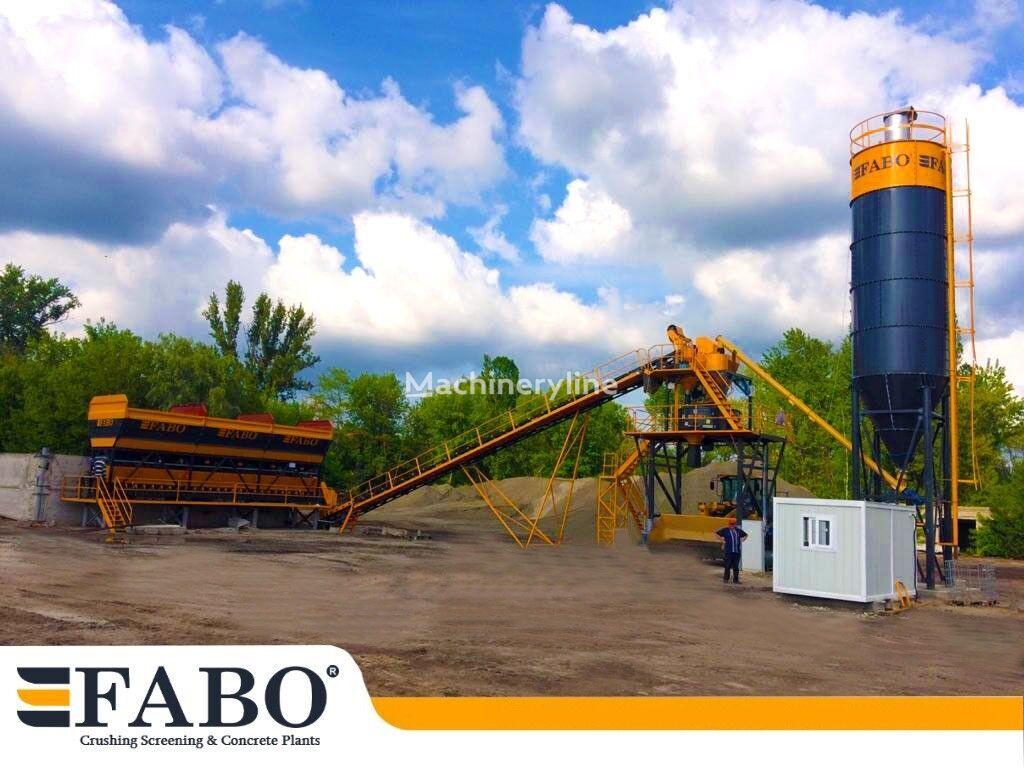 нов бетонов възел Fabo 75m3/h STATIONARY CONCRETE MIXING PLANT