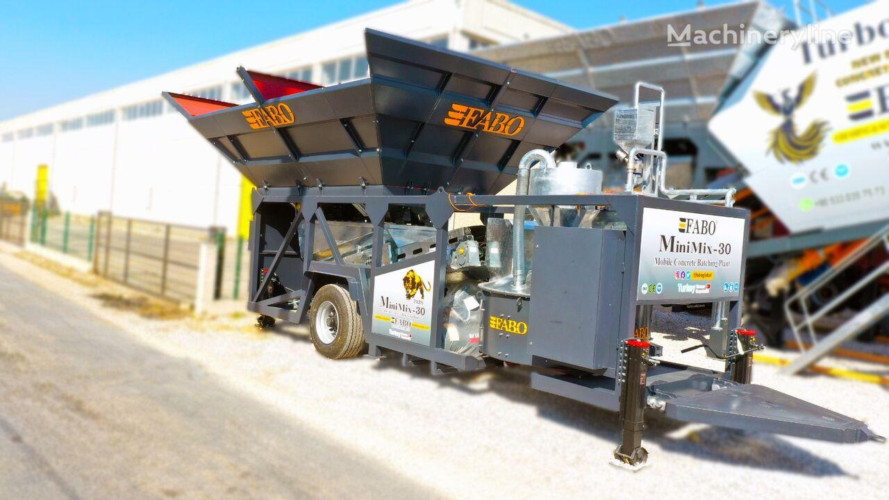 нов бетонов възел Fabo MINIMIX-30 MOBILE CONCRETE PLANT 30 M3/H READY IN STOCK