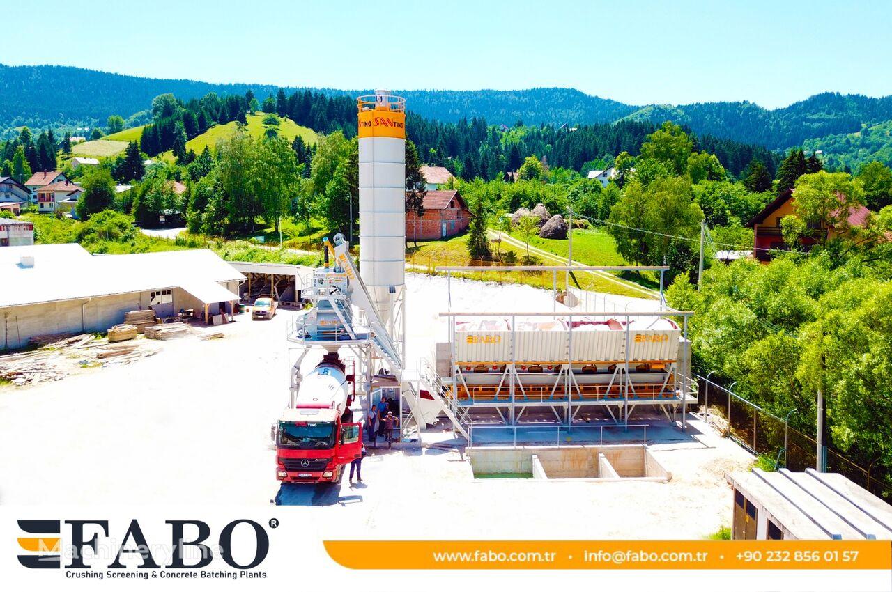 нов бетонов възел Fabo  SKIP SYSTEM CONCRETE BATCHING PLANT   110m3/h Capacity