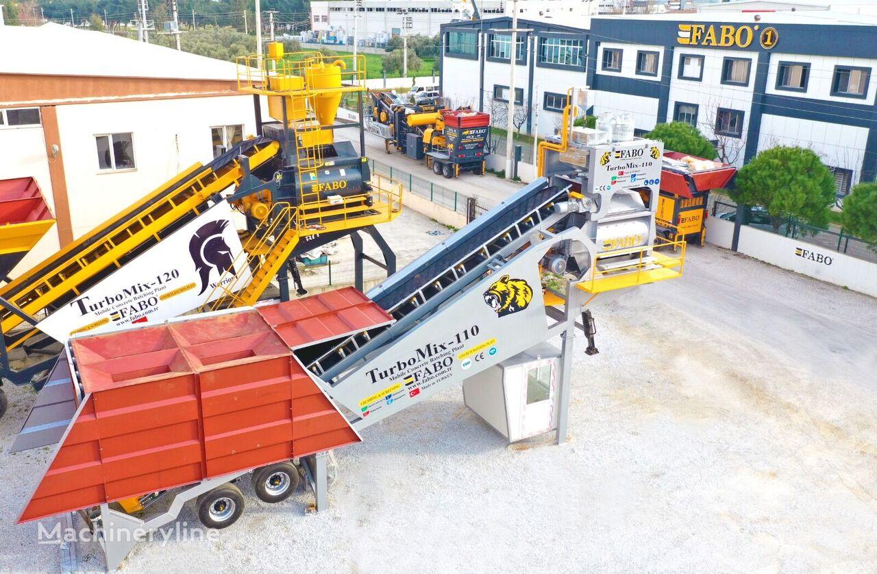 нов бетонов възел Fabo TURBOMIX-110 Cерия Mобильных бетонных установок