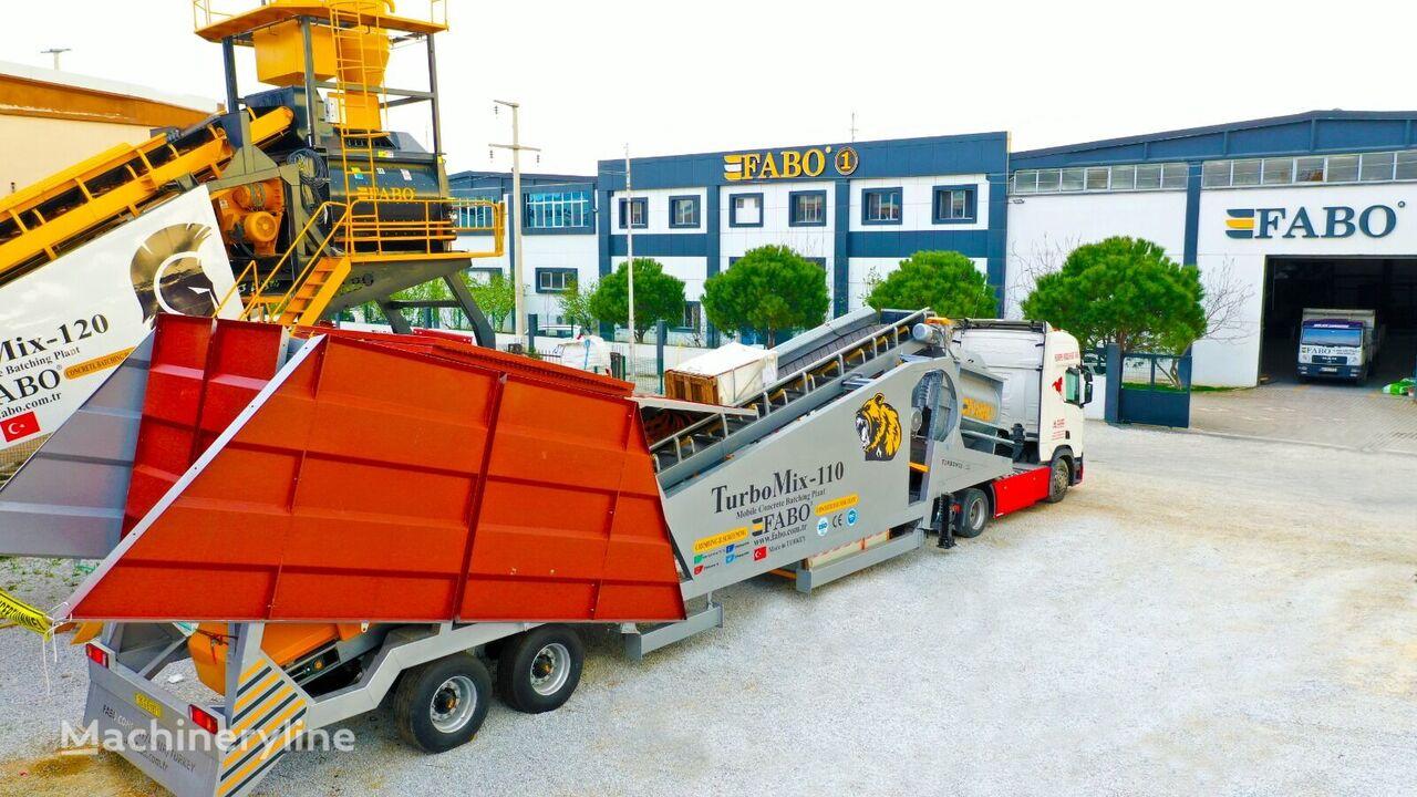 нов бетонов възел Fabo TURBOMIX-110 Mobile Concrete Batching Plant