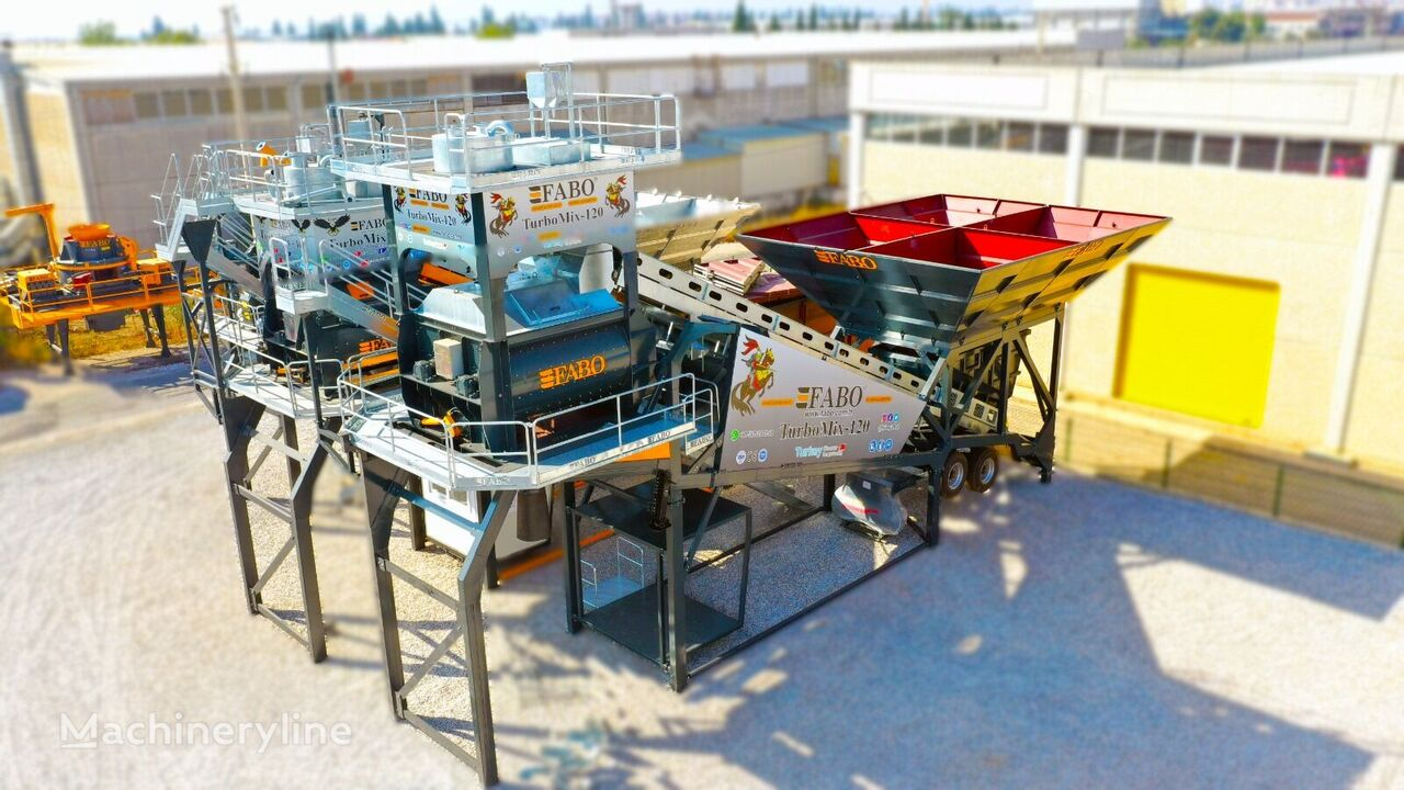 нов бетонов възел Fabo TURBOMIX-120 MOBILE CONCRETE PLANT READY IN STOCK