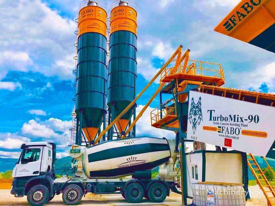нов бетонов възел Fabo TURBOMİX 90 МОБИЛЬНЫЙ БЕТОННЫЙ ЗАВОД С БЫСТРОЙ И ЛЕГКОЙ УСТАНОВК