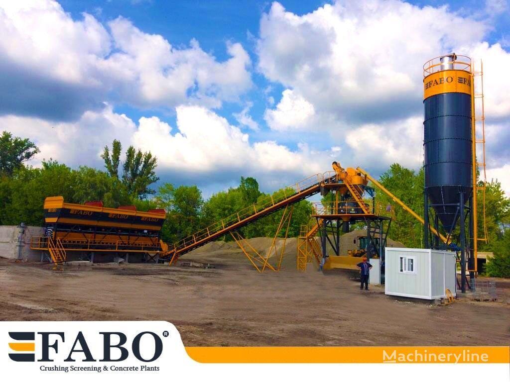 нов бетонов възел Fabo Стационарный компактный бетонный завод  75 м3 /ч