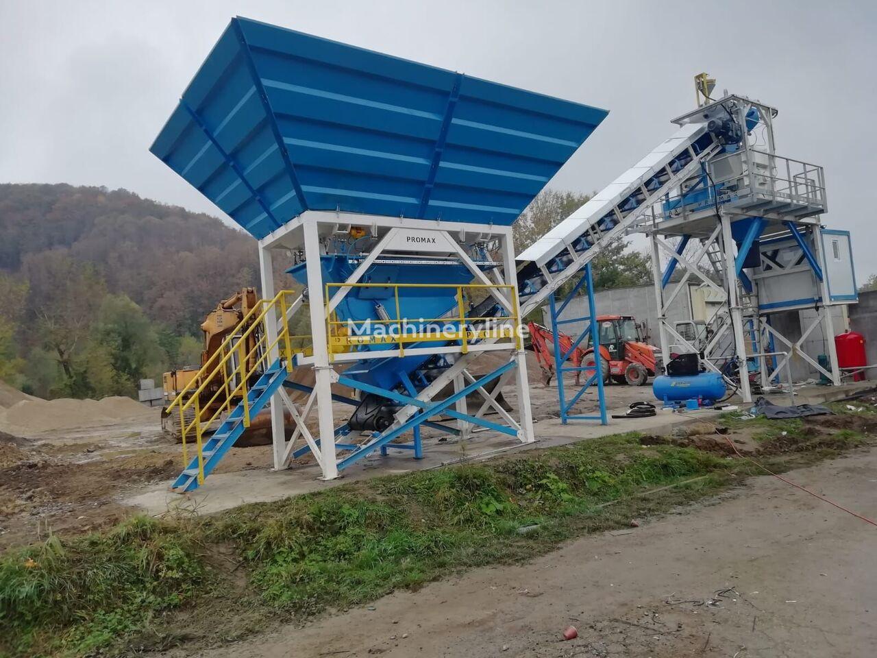 нов бетонов възел PROMAX Compact Concrete Batching Plant C60-SNG-PLUS (60m3/h)