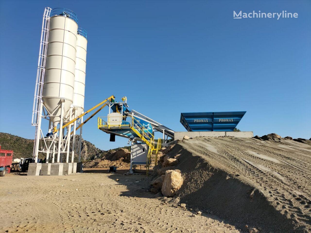 нов бетонов възел PROMAX Mobile Concrete Batching Plant PROMAX M60-SNG (60m3/h)