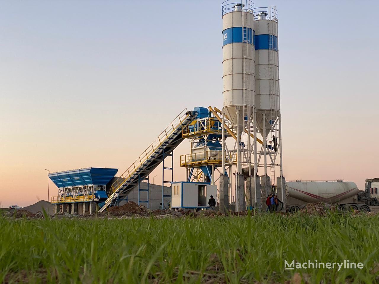 нов бетонов възел PROMAX STATIONARY Concrete Batching Plant PROMAX S130-TWN (130m3/h)