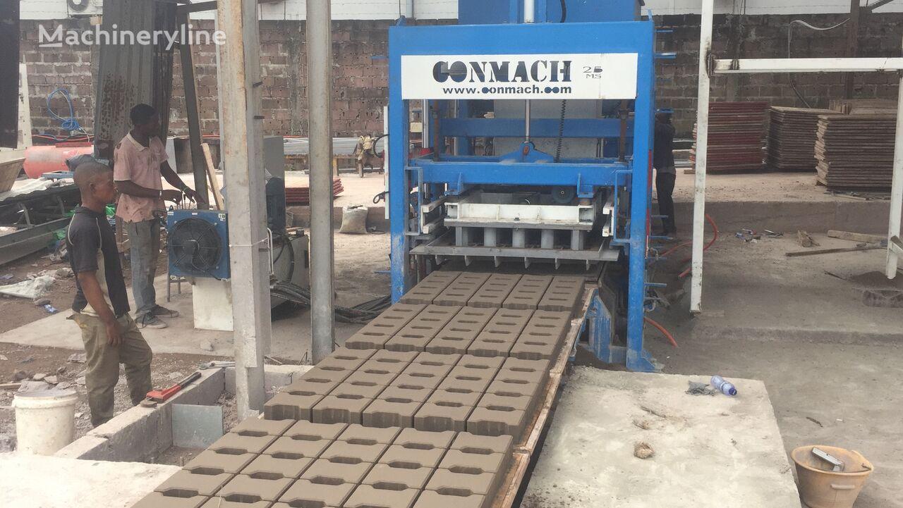 ново оборудване за производство бетонни блокчета CONMACH BlockKing-25FSS Concrete Block Making Machine-10.000 units/shift