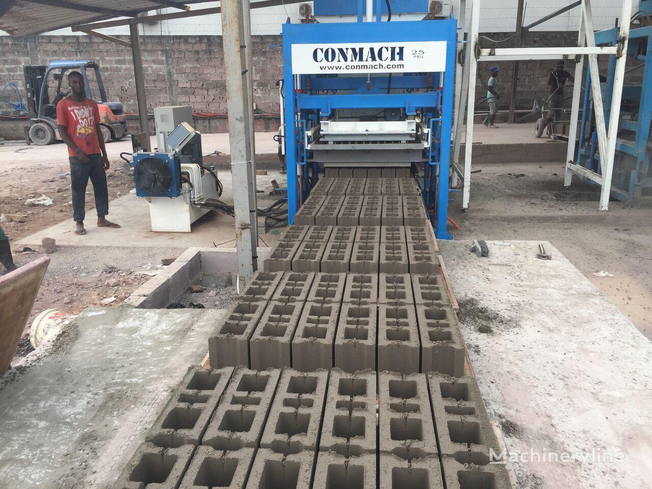 ново оборудване за производство бетонни блокчета CONMACH BlockKing-25MS Concrete Block Making Machine -10.000 units/shift